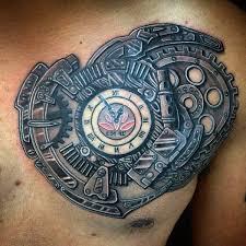 tattoo 3d design chest 75 steunk tattoo designs for men masculine machinery tattoo