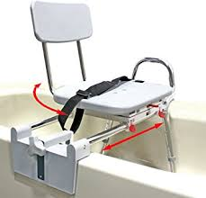 Toilet To Tub Sliding Transfer Bench Amazon Com Tub Mount Swivel Sliding Bath Transfer Bench 77762