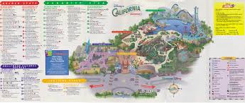 Orlando Parks Map by Disney Ephemera 2001 Disney U0027s California Adventure Guide Map
