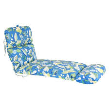 Thick Chaise Lounge Cushions Outdoor Chaise Lounge Cushion Blue Green Floral Target