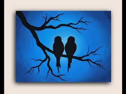 acrylic painting on canvas birds