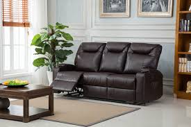 Leather Lazy Boy Recliner Lazyboy Hollywood 3 Seater Bonded Leather Recliner Brown