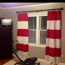 Rugby Stripe Curtains This Curtain Rod Looks Just Like The Makeshift Closet