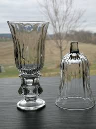 set of 2 homco home interiors starlite clear glass votive cup