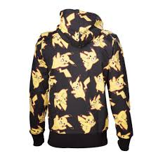 pokemon male pikachu all over full length zipper hoodie