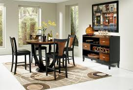 round counter height table set 47 margate contemporary round counter high dining table set