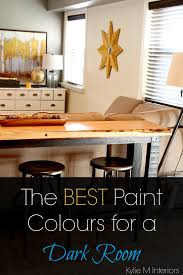 the best light paint colours for a dark room family room or