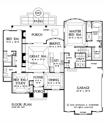 home plan the foxglove by donald a gardner architects