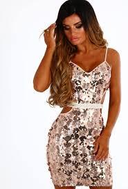 pink boutique dresses glamourholic gold cut out sequin mini dress pink boutique