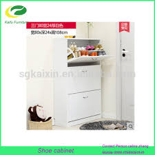 White Shoe Cabinet With Doors by White Wood Kd Falt Pack Shoe Cabinet 3 Door Design Buy Wooden