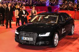 chauffeurless u0027 audi a8 whisks film star to the red carpet