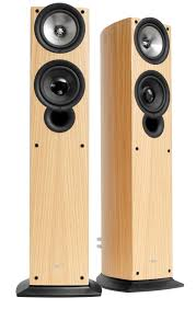 avid home theater kef iq50 compact floorstanding speakers review