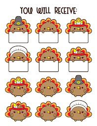 30 turkey clipart kawaii turkey clipart thanksgiving