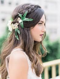 flowers for hair burgundy berry autumn wedding inspiration wedding hair with