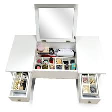 Makeup Vanity Table Furniture Amazon Com Organizedlife Wooden Makeup Vanity Table Mirror