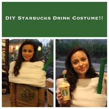 diy starbucks drink costume youtube