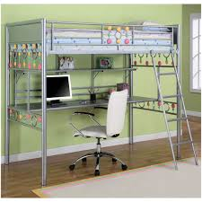 Twin Loft Bed With Desk Plans Free by Bedroom Bunk Bed With Desk And Futon Underneath Gami Largo Loft