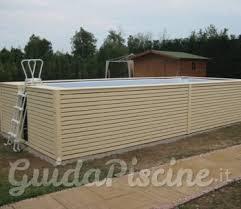 rivestimento in legno per piscine fuori terra piscina fuoriterra con rivestimento in legno o wpc