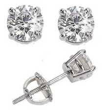 back diamond earrings mens diamond earrings ebay