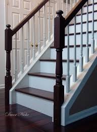 Staining Banister Stain Color For Foyer Stairs Love And I Would Be Comfortable