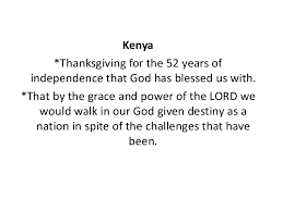prayer points 13th dec 2015