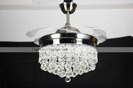 Retractable Ceiling Light by Retractable Crystal Led Ceiling Fan With Remote Controlling