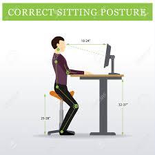 hauteur bureau ergonomie ergonomique selle assis chaise et bureau réglable en hauteur ou une