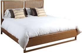 curate home collection king woven cane panel bed