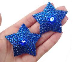 led light up pasties light up pasties blue stars with blue rhinestones blue led light