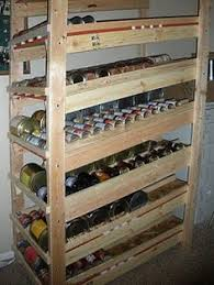 Wood Storage Shelves Plans by Build A Rotating Canned Food Shelf Food Storage Shelves Food