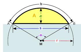 kreisfläche rechner kreissegment