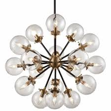 Chandelier With Black Shades Boudreaux Chandelier 18 Light In Matte Black And Antique Gold
