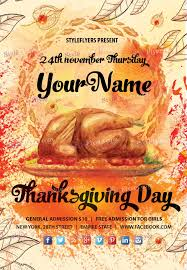thanksgiving day psd flyer template thanksgiving flyer templates