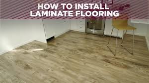 Tile Floor Installers How To Install A Laminate Floor How Tos Diy