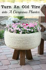 How To Use Old Tires For Decorating Diy Tire Planter Old Tires Planters And Tired
