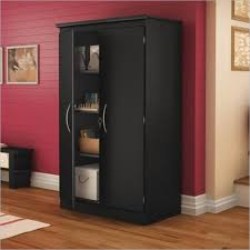 south shore storage cabinet south shore morgan 2 door storage cabinet in pure black 7270970
