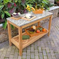 Teak Patio Table Teak Outdoor Tables Berwick Console U0026 New Caledonia Granite