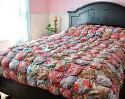 Patchwork Comforter Boho Comforters Etsy