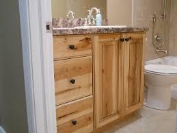 rustic real vanity with granite countertop mounted washbasin