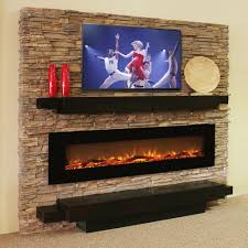 regal flame 72 inch erie log linear wall mounted electric fireplace