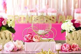 Carriage Centerpiece Kara U0027s Party Ideas Pink U0026 Gold Princess Birthday Party Kara U0027s