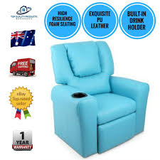 Youth Recliner Chairs Luxury Kids Recliner Chair Children Lounge Sofa Padded Pu Leather