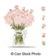 Clipart Vase Of Flowers Flower Vase Stock Illustrations 6 341 Flower Vase Clip Art Images