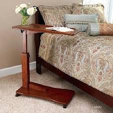 Swivel Laptop Desk Side Table Swivel Bedside Laptop Table Adjustable Bed Laptop