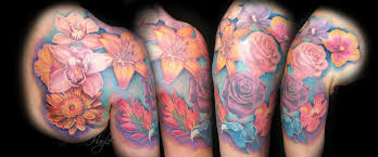 Chest And Half Sleeve - floral half sleeve chest and shoulder by haylo