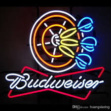 bud light neon signs for sale new budweiser bud beer poker darts neon sign light new budweiser