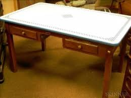 vintage kitchen work table search all lots skinner auctioneers