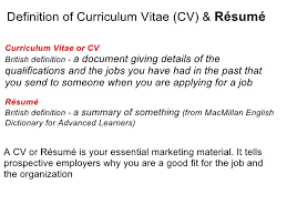 curriculum vitae cv vs resume effective cv resume writing
