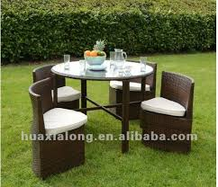new design space saving furniture brown 4 seat with round table