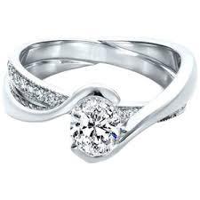 interlocking engagement ring wedding band interlocking wedding band and engagement ring engagement ring